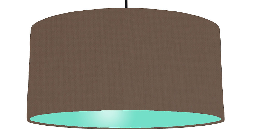 Brown & Mint Lampshade - 60cm Wide