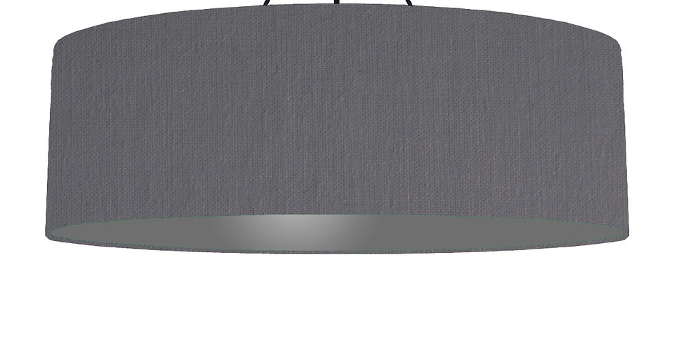 Dark Grey & Dark Grey Lampshade - 100cm Wide