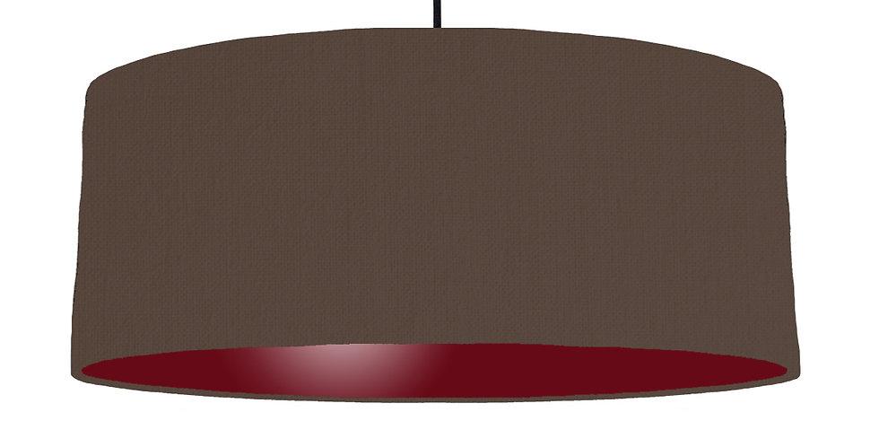 Brown & Burgundy Lampshade - 70cm Wide