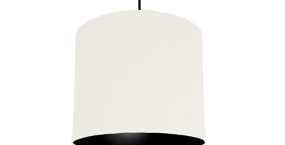 White & Black Lampshade - 25cm Wide