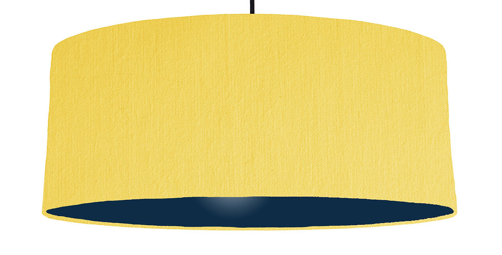 Lemon & Navy Lampshade - 70cm Wide