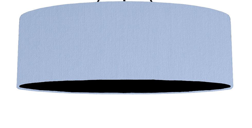 Sky Blue & Black Lampshade - 100cm Wide
