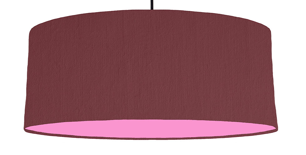 Wine Red & Pink Lampshade - 70cm Wide