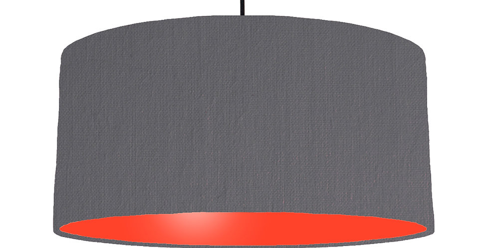 Dark Grey & Poppy Red Lampshade - 60cm Wide