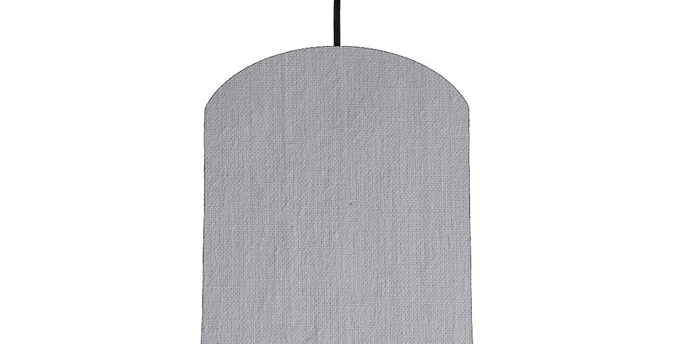 Light Grey & Magenta Lampshade - 20cm Wide