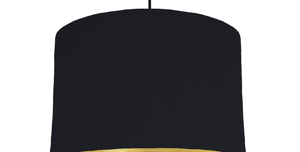 Black & Brushed Gold Lampshade - 30cm Wide