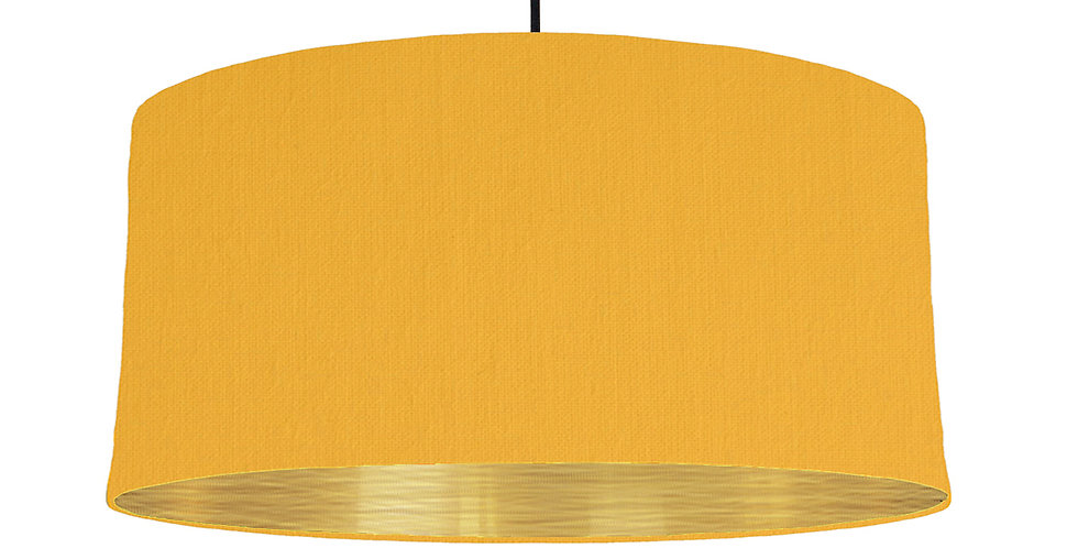 Sunshine & Brushed Gold Lampshade - 60cm Wide