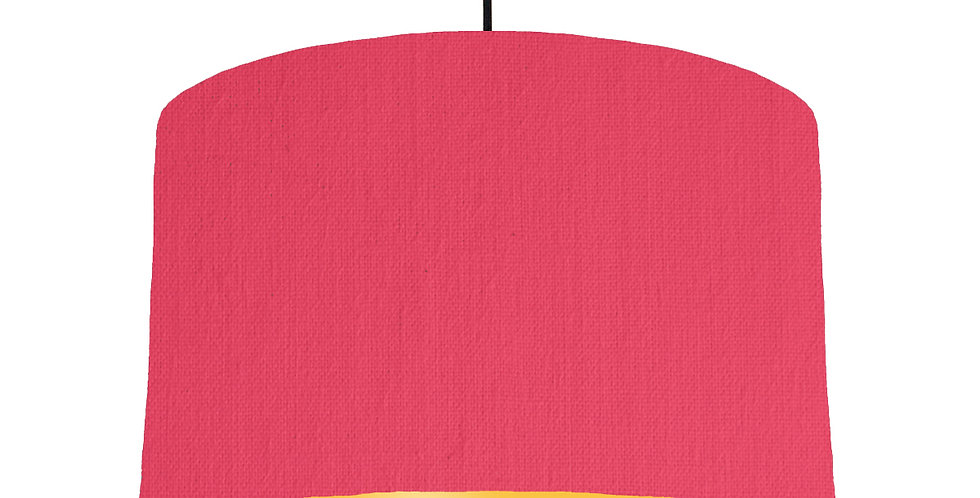 Cerise & Butter Yellow Lampshade - 40cm Wide