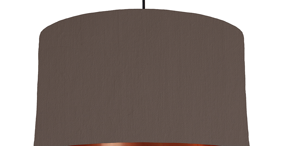 Brown & Copper Mirrored Lampshade - 50cm Wide