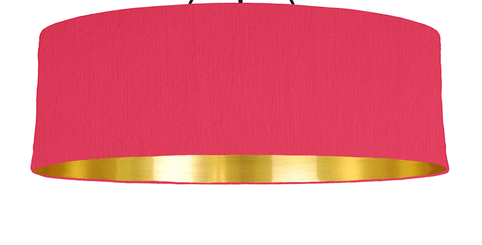 Cerise & Gold Mirrored Lampshade - 100cm Wide