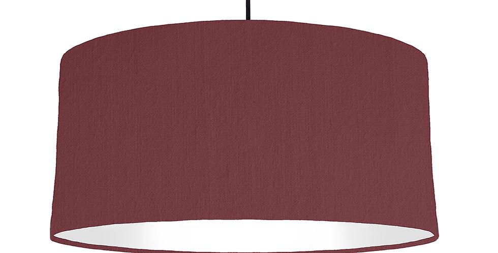 Wine & White Lampshade - 60cm Wide