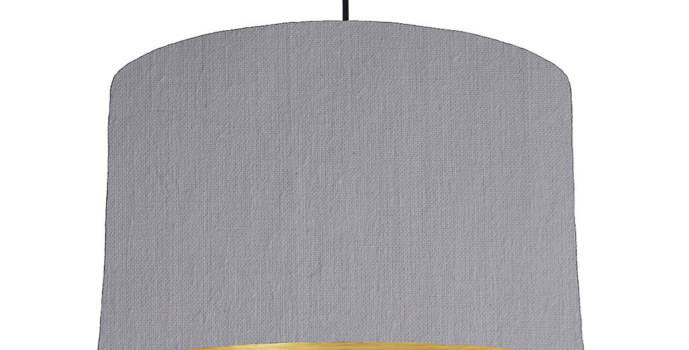 Light Grey & Brushed Gold Lampshade - 40cm Wide
