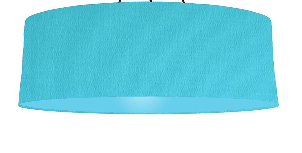 Turquoise & Light Blue Lampshade - 100cm Wide