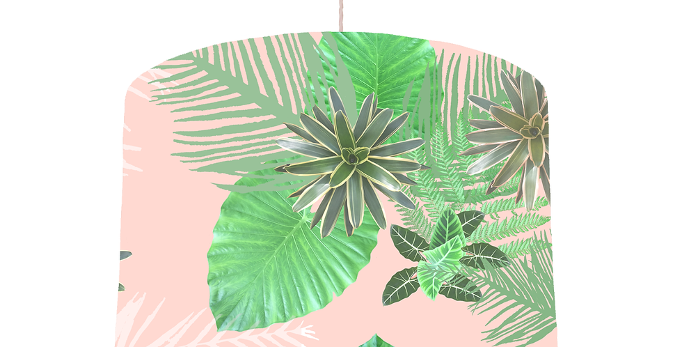 Tropical plant Lampshade - White Lining