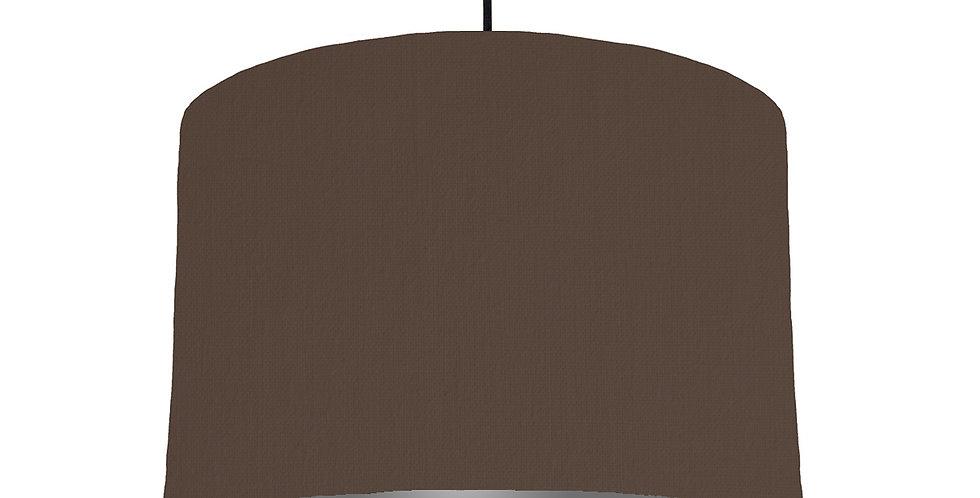 Brown & Dark Grey Lampshade - 30cm Wide