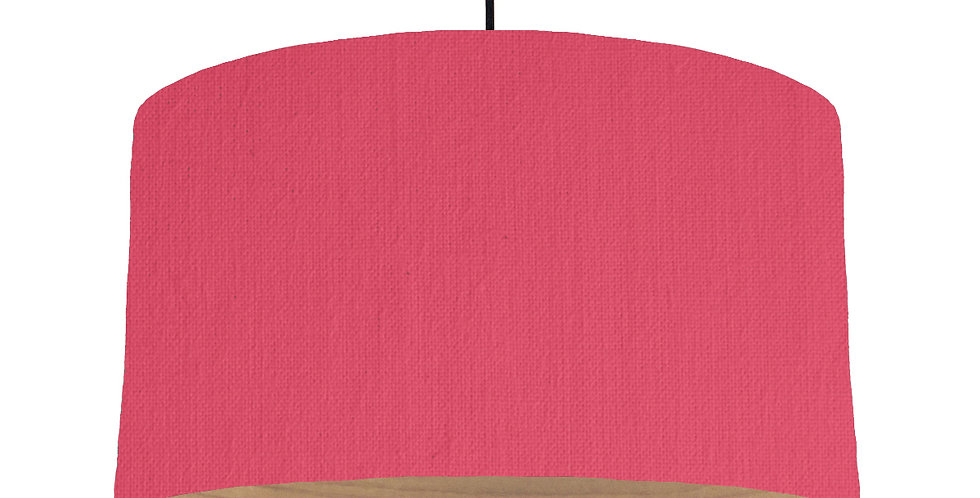 Cerise & Wooden Lined Lampshade - 50cm Wide