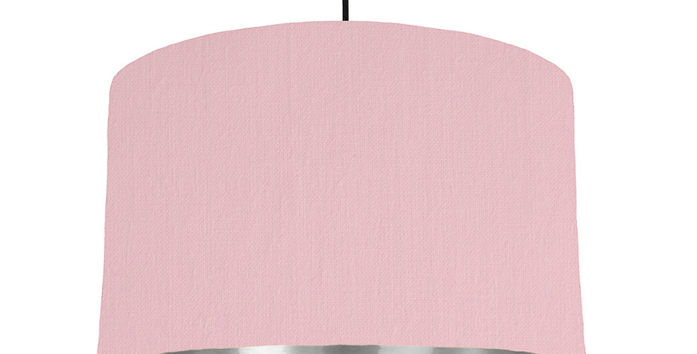 Pink & Silver Mirrored Lampshade - 40cm Wide