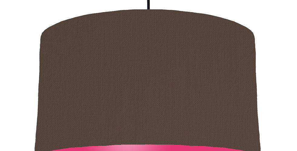 Brown & Magenta Lampshade - 50cm Wide