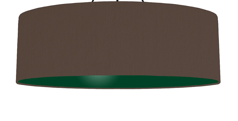 Brown & Forest Green Lampshade - 100cm Wide