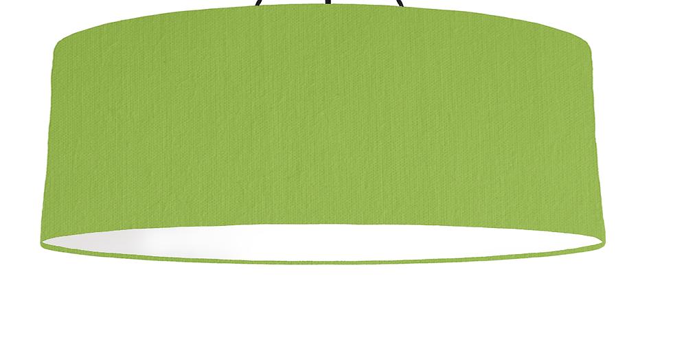 Pistachio & White Lampshade - 100cm Wide