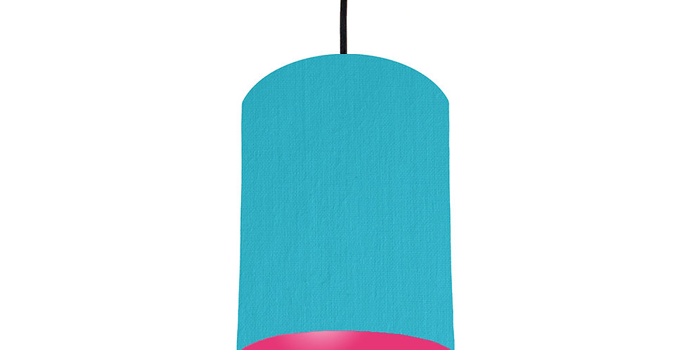 Turquoise & Magenta Pink Lampshade - 15cm Wide