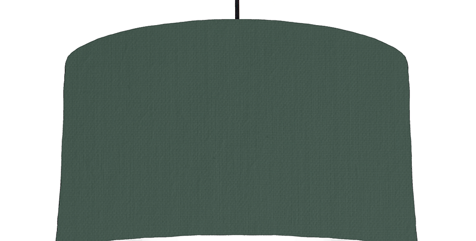 Bottle Green & White Lampshade - 50cm Wide