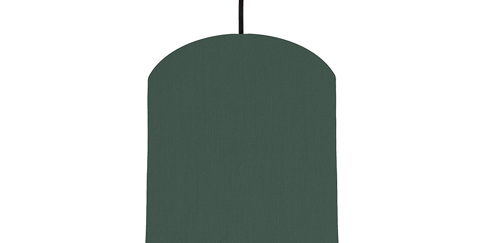 Bottle Green & Ivory Lampshade - 20cm Wide