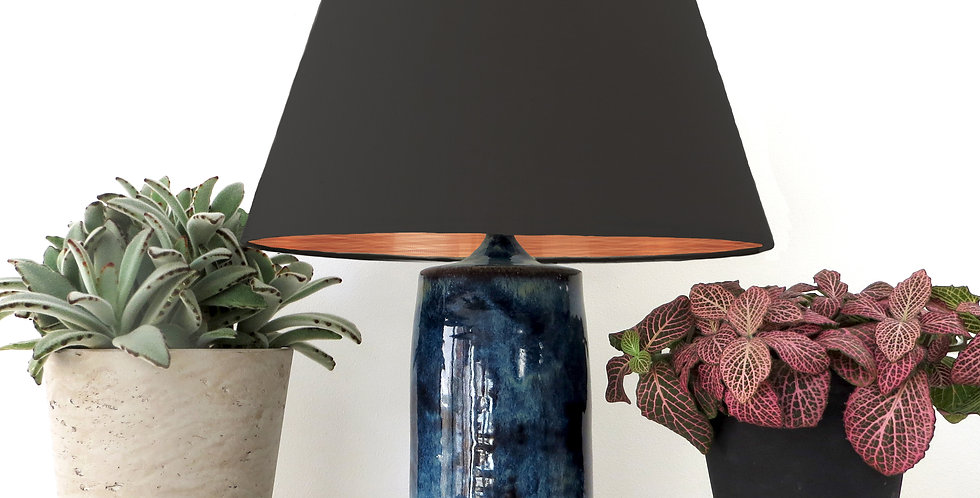 Conical Lampshade (20Tx30Bx20H) - Brushed Copper Lining