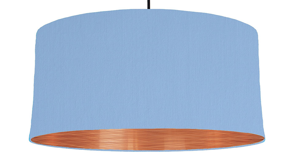 Sky Blue & Brushed Copper Lampshade - 60cm Wide