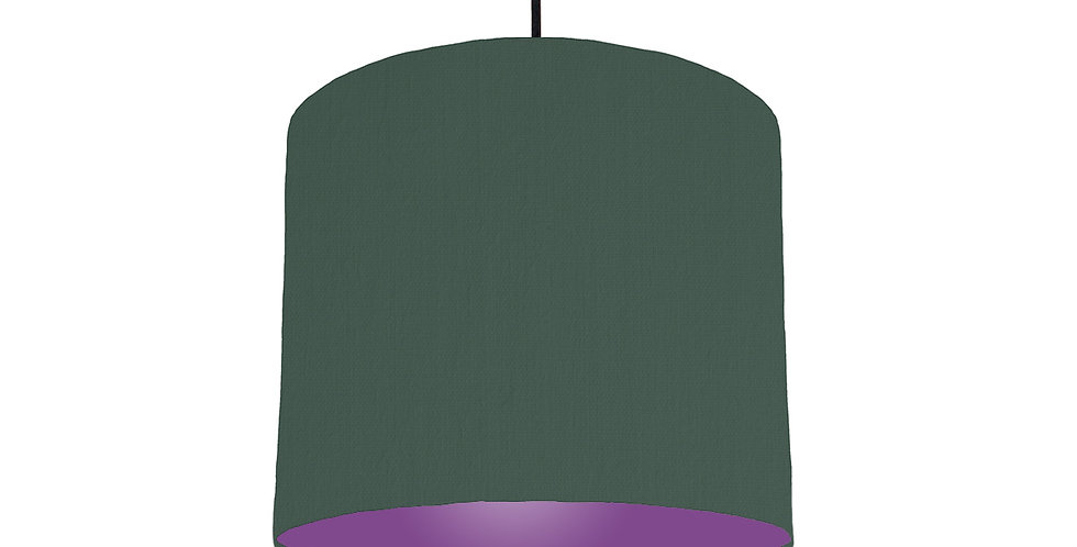 Bottle Green & Purple Lampshade - 25cm Wide
