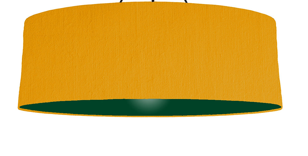 Mustard & Forest Green Lampshade - 100cm Wide