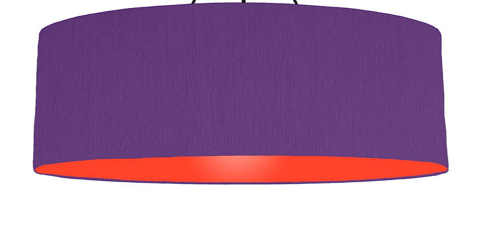 Violet & Poppy Red Lampshade - 100cm Wide