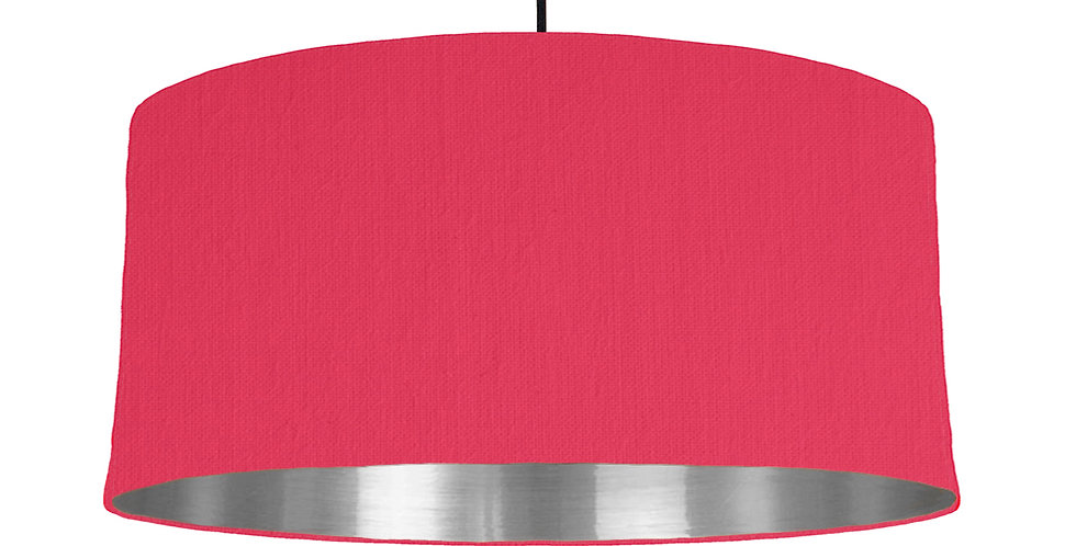 Cerise & Silver Mirrored Lampshade - 60cm Wide