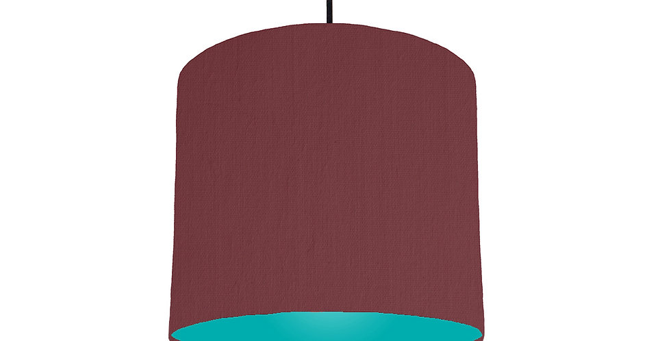 Wine Red & Turquoise Lampshade - 25cm Wide