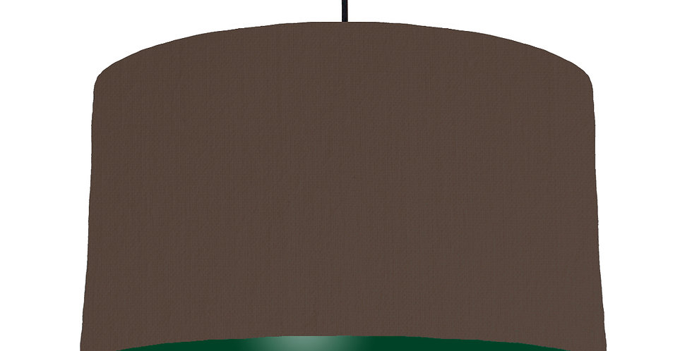Brown & Forest Green Lampshade - 50cm Wide