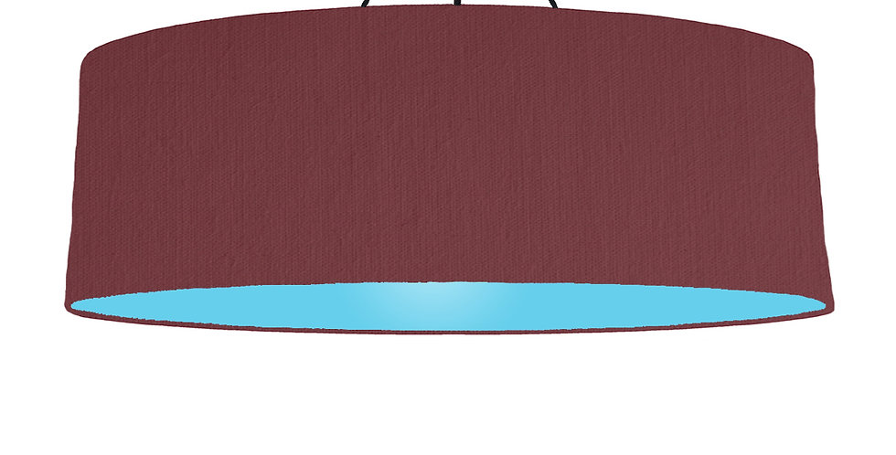Wine Red & Light Blue Lampshade - 100cm Wide