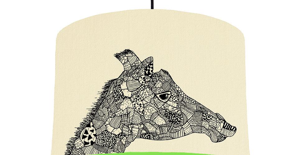 Giraffe - Natural & Lime Green