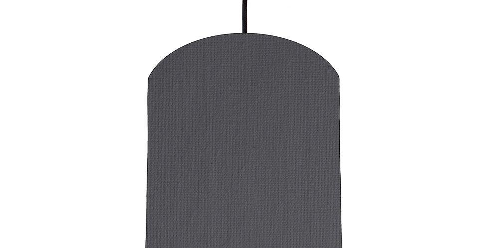 Dark Grey & Silver Lampshade - 20cm Wide