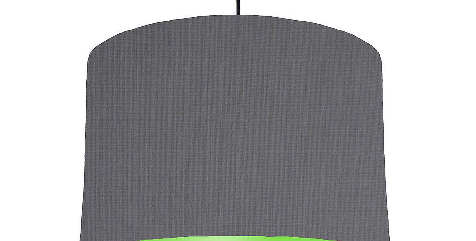 Dark Grey & Lime Green Lampshade - 30cm Wide