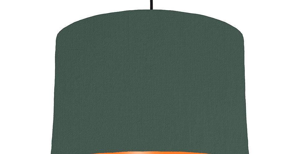 Bottle Green & Orange Lampshade - 30cm Wide