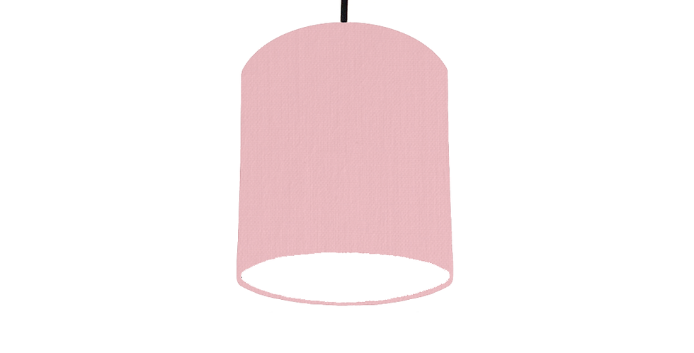 Pink & White Lampshade - 15cm Wide