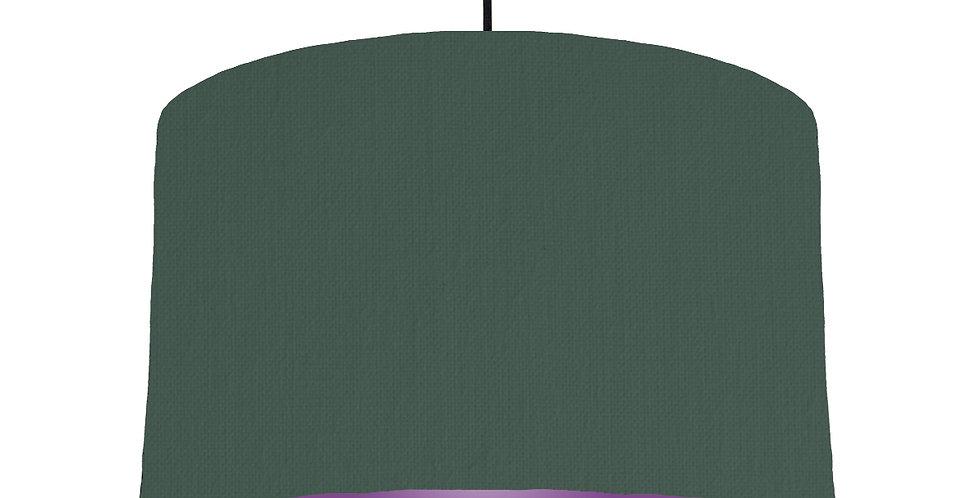 Bottle Green & Purple Lampshade - 40cm Wide
