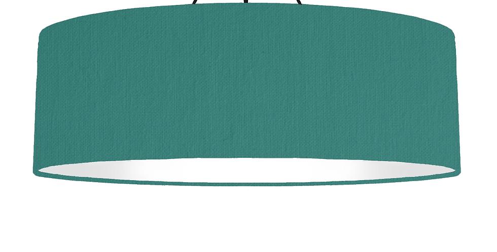 Jade & White Lampshade - 100cm Wide
