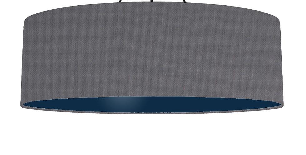 Dark Grey & Navy Lampshade - 100cm Wide