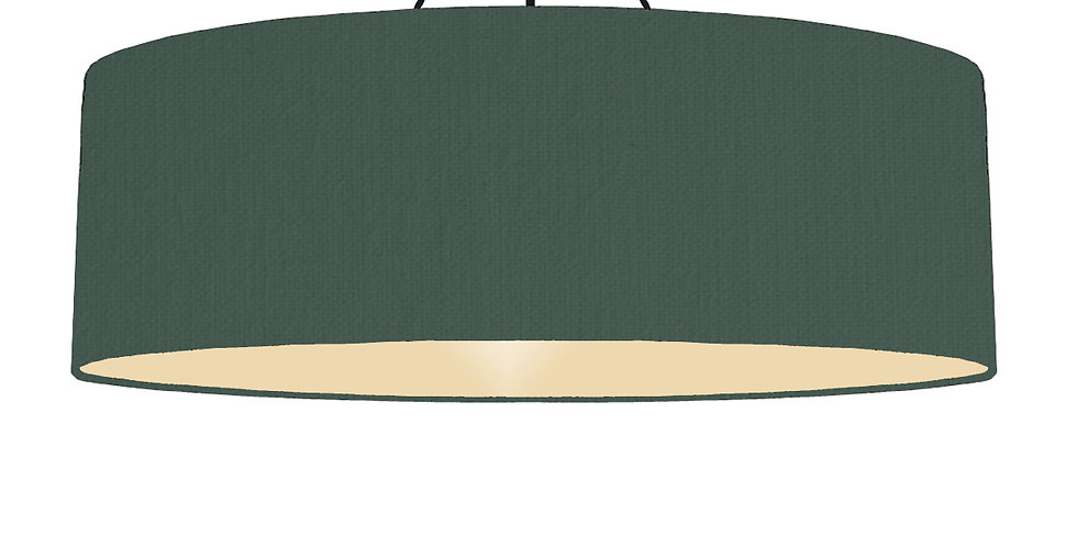Bottle Green & Ivory Lampshade - 100cm Wide