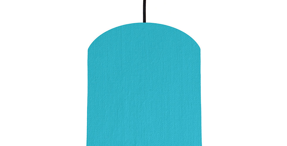 Turquoise & Silver Matt Lampshade - 20cm Wide