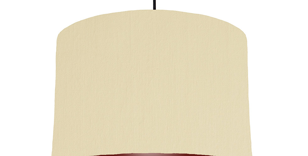 Natural & Burgundy Lampshade - 30cm Wide