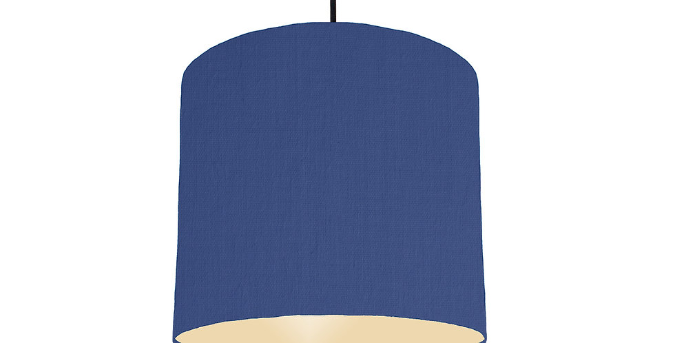 Royal Blue & Ivory Lampshade - 25cm Wide