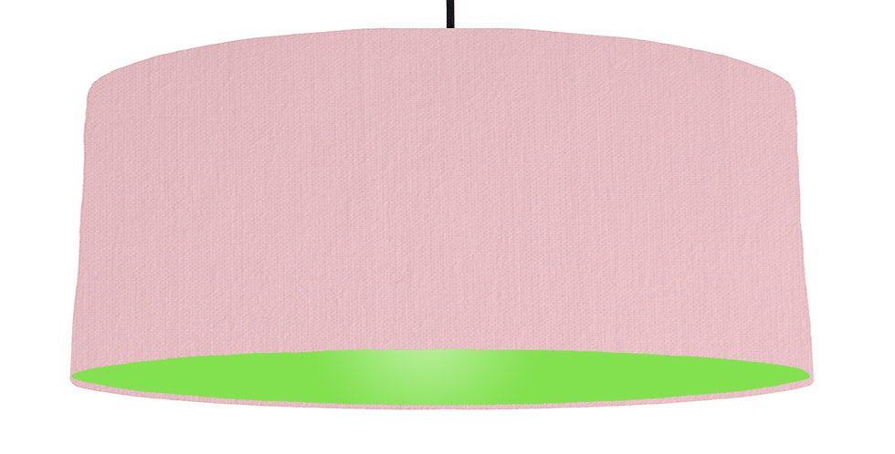 Pink & Lime Green Lampshade - 70cm Wide