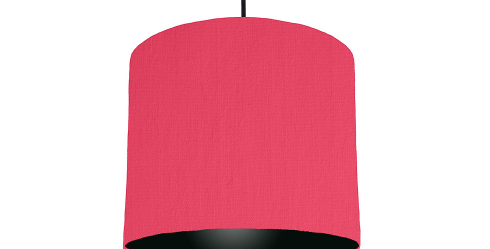 Cerise & Black Lampshade - 25cm Wide